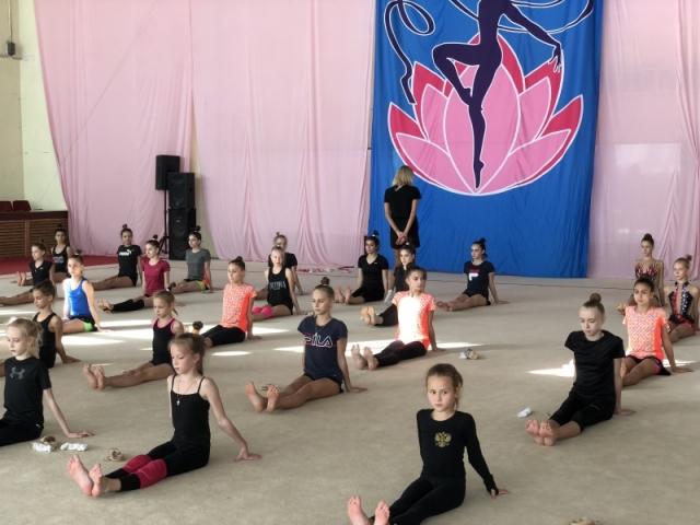 Встреча Елены Шаламовой с гимнастками школы